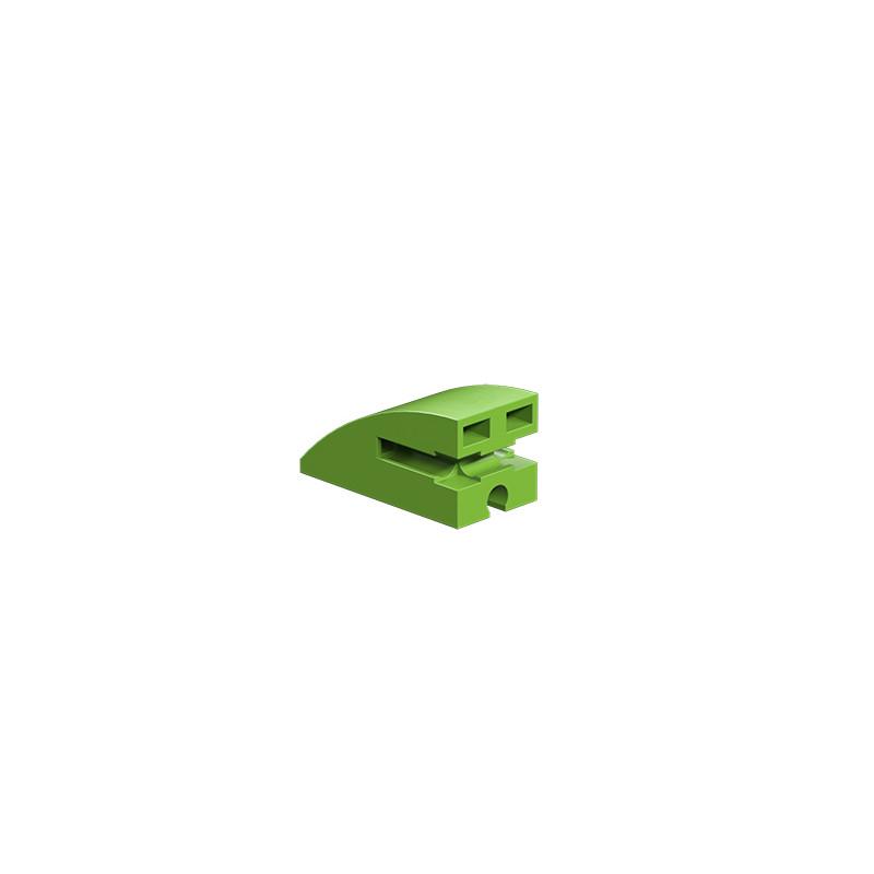 Building block 15x30 round green