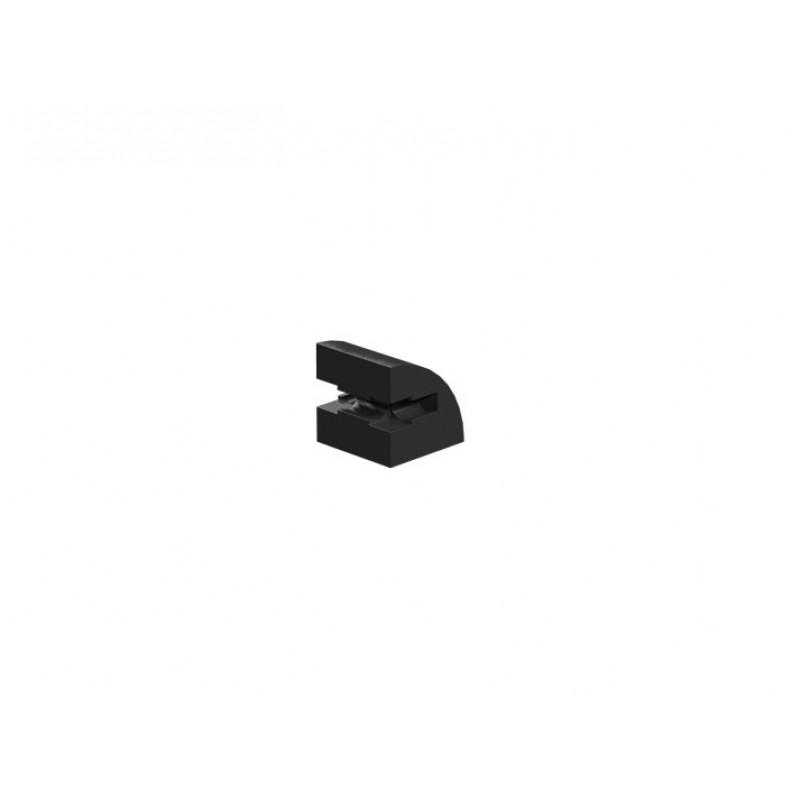 Building block 15x15 round, black
