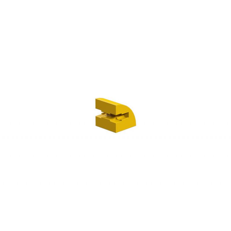 Building block 15x15 round, yellow
